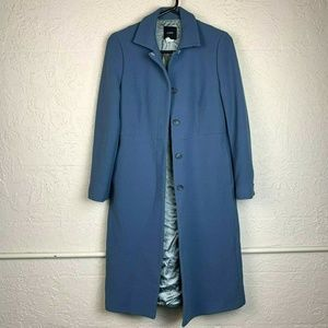 J. Crew Wool Blend Jacket Coat 4 Light Blue Trench